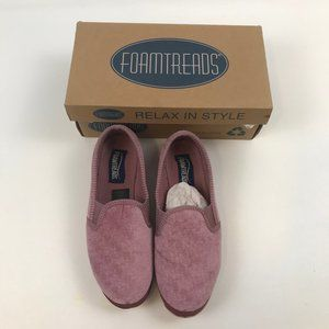Foamtreads Dusty Rose comfort slippers Debbie sz 7